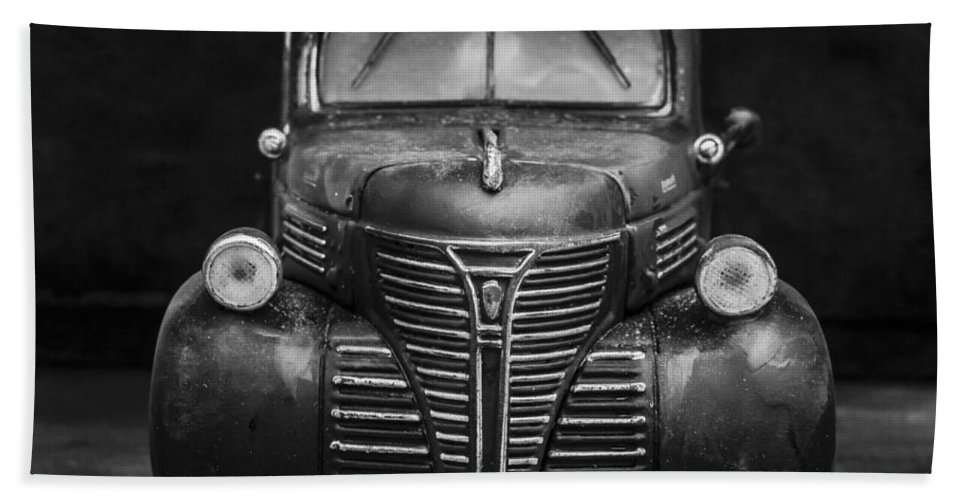 Car Hand Towel featuring the photograph Old Plymouth Truck Square by Edward Fielding