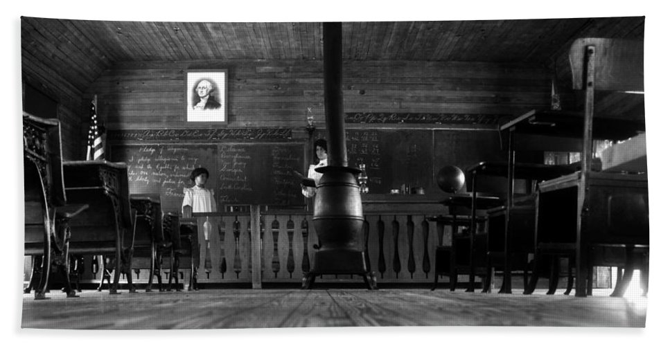 School House Bath Sheet featuring the photograph Old School by David Lee Thompson