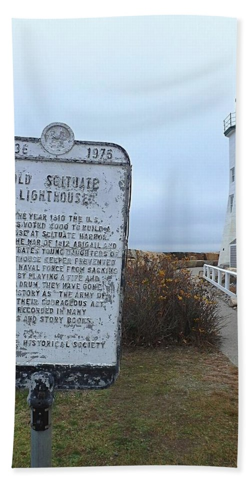 Lighthouse Bath Sheet featuring the photograph Old Scituate Lighthouse by Kim Angely