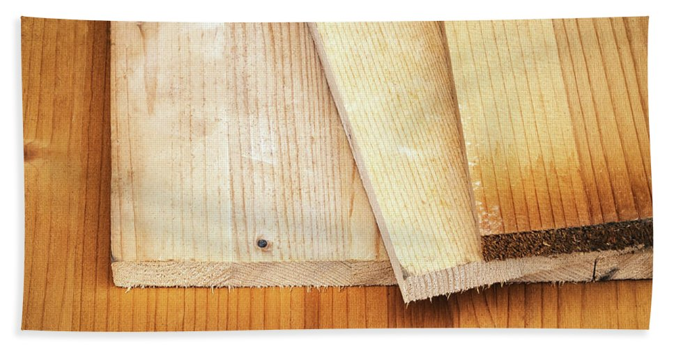 Backdrop Hand Towel featuring the photograph Old Spruce Boards On Top Of Each Other by Jozef Jankola