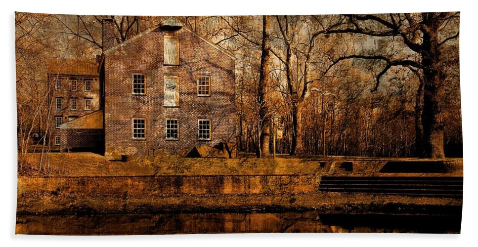Allaire State Park Bath Sheet featuring the photograph Old Village - Allaire State Park by Angie Tirado