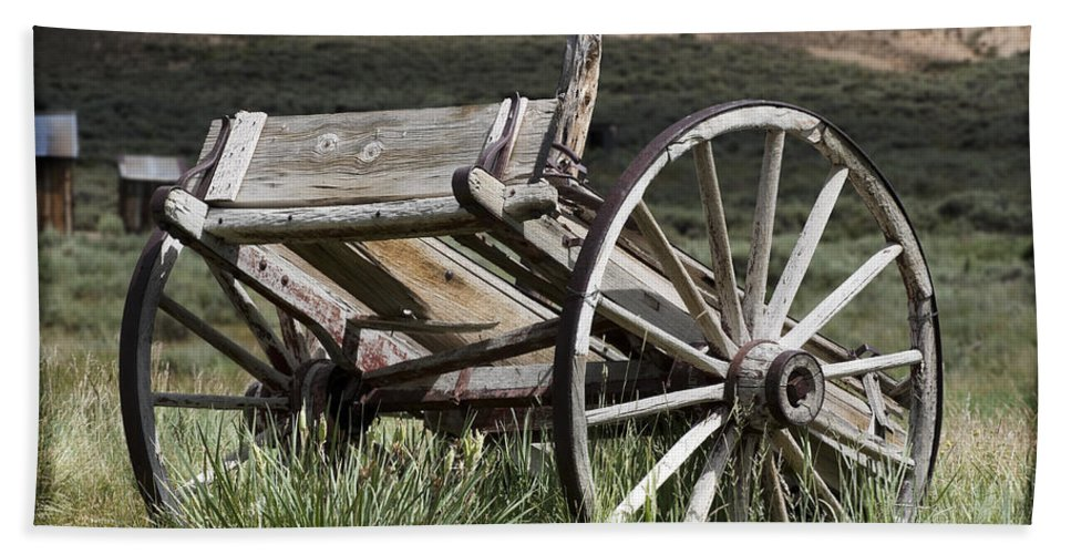 Antique Bath Sheet featuring the photograph Old Wheels by Kelley King