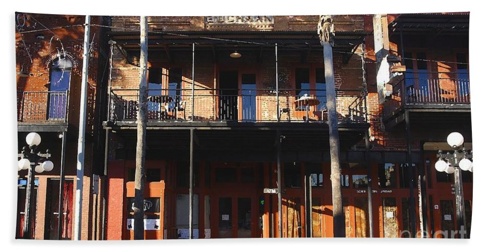 Ybor City Florida Hand Towel featuring the photograph Old Ybor by David Lee Thompson