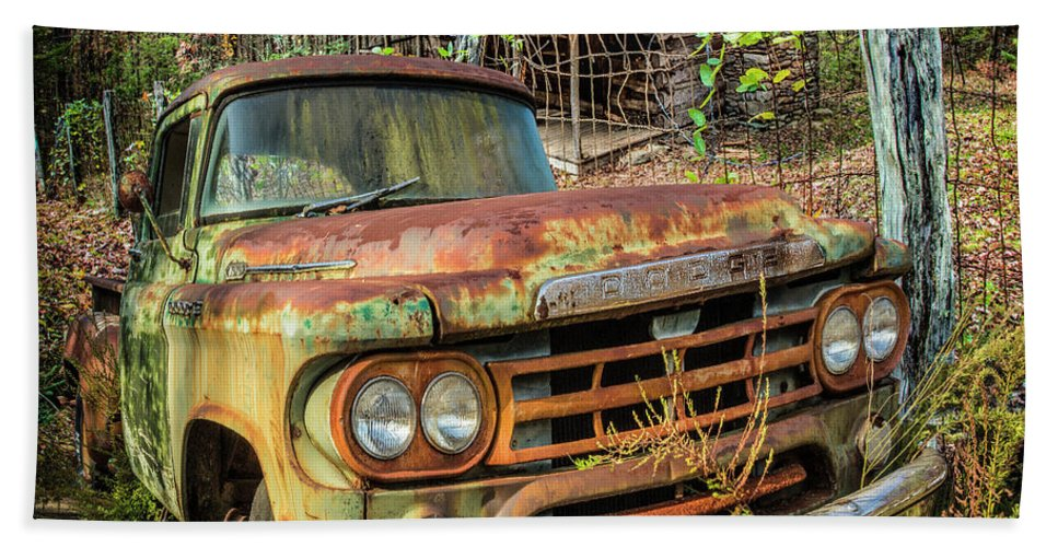 American Hand Towel featuring the photograph Oldie But Goodie 1959 Dodge Pickup Truck by Debra and Dave Vanderlaan