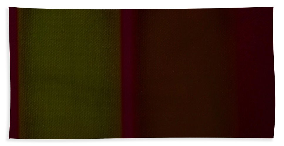 Rothko Bath Towel featuring the painting Olive Red by Charles Stuart