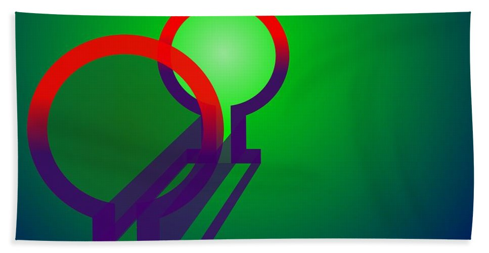 Omega Hand Towel featuring the digital art Omega Xfers by Helmut Rottler