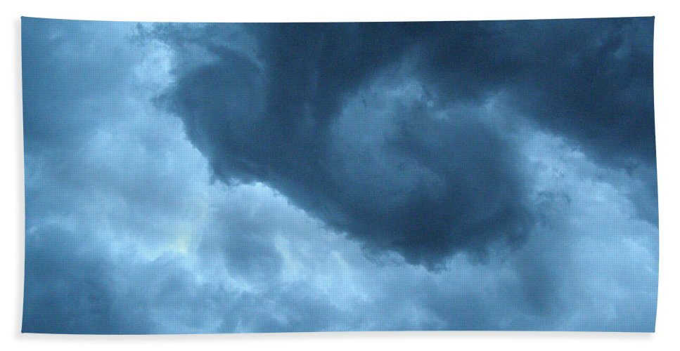 Storm Hand Towel featuring the photograph Ominous by Angie Rea