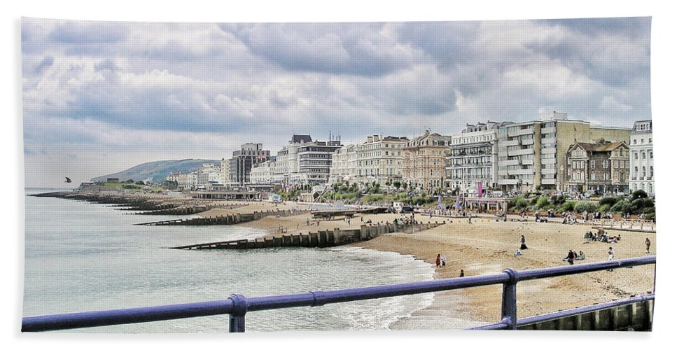 Brighton Hand Towel featuring the photograph On Brighton's Palace Pier by Connie Handscomb
