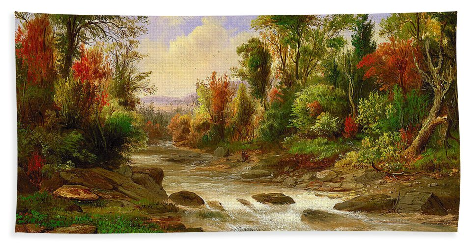 Robert S. Duncanson (american Bath Sheet featuring the painting On St Annes East by Robert