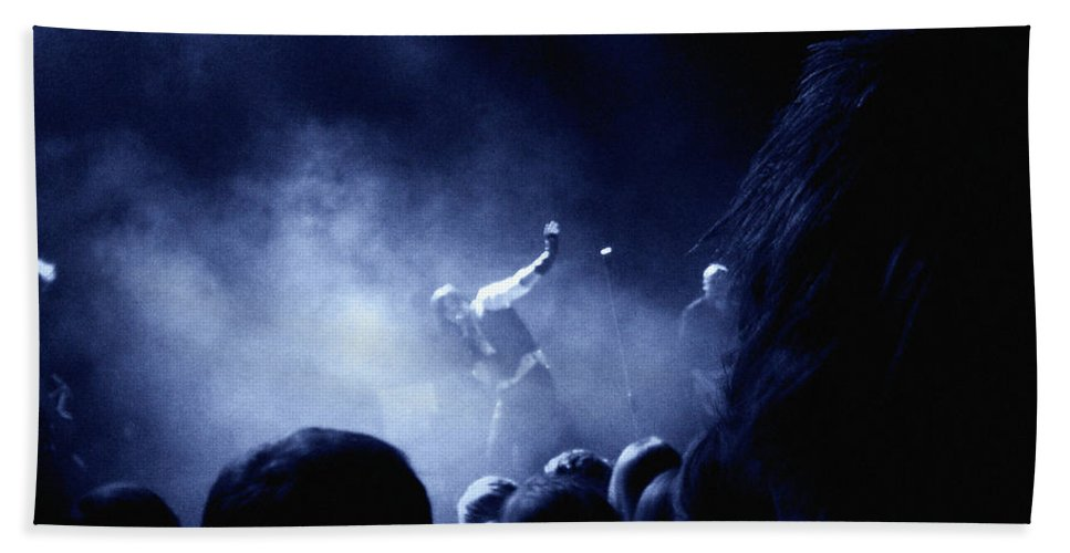 Rock Hand Towel featuring the photograph On Stage by Are Lund