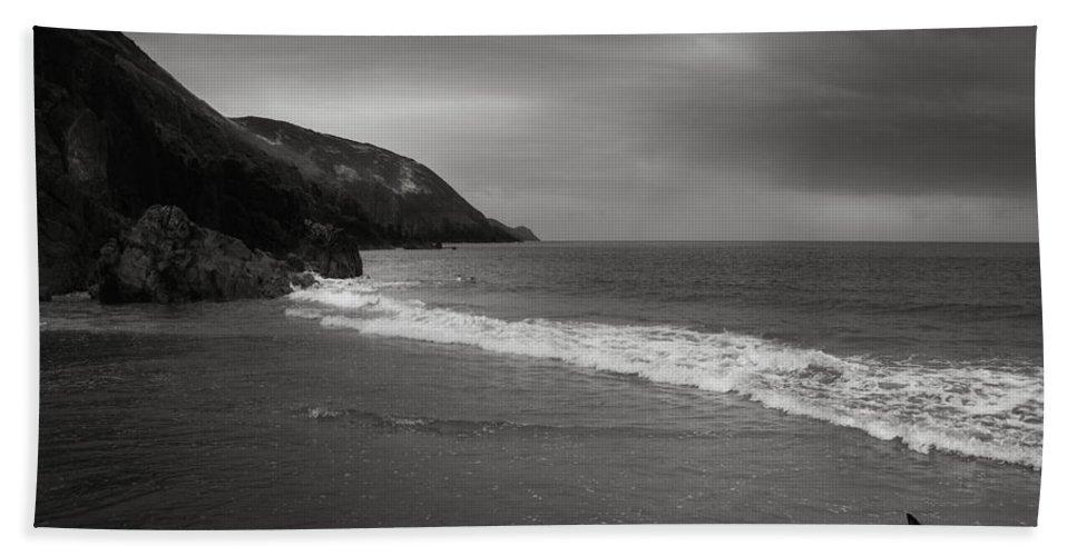 Beach Hand Towel featuring the photograph On The Beach by Angel Ciesniarska
