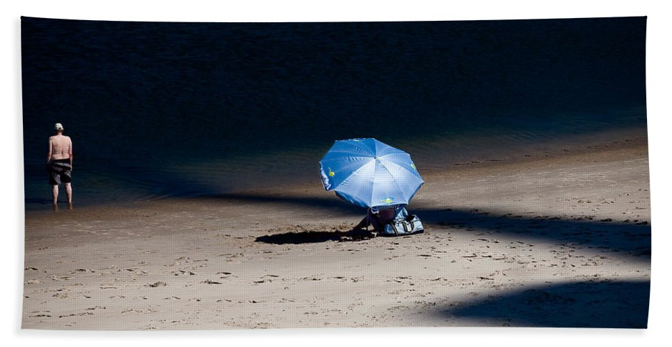 Beach Hand Towel featuring the photograph On The Beach by Dave Bowman