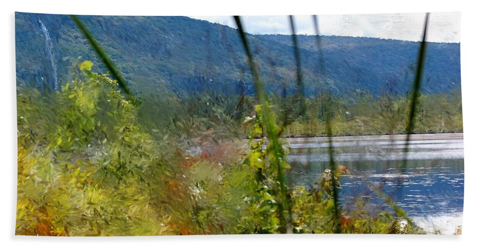 Digital Photograph Hand Towel featuring the photograph On The Edge Of Reality by David Lane