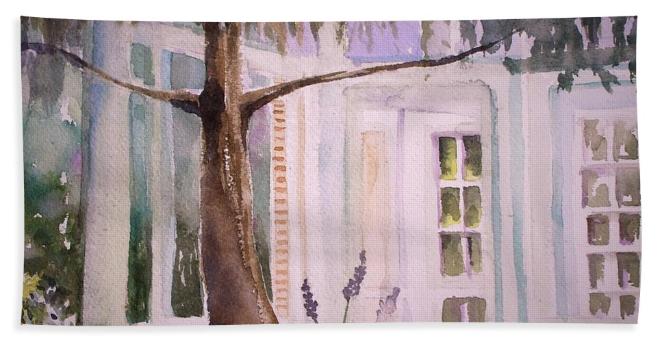 Windows Bath Sheet featuring the painting On the Outside Looking In by Mindy Newman
