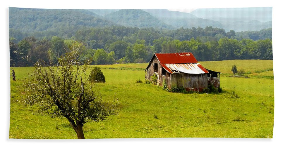 Farm Bath Sheet featuring the photograph Once Upon A Time by David Lee Thompson