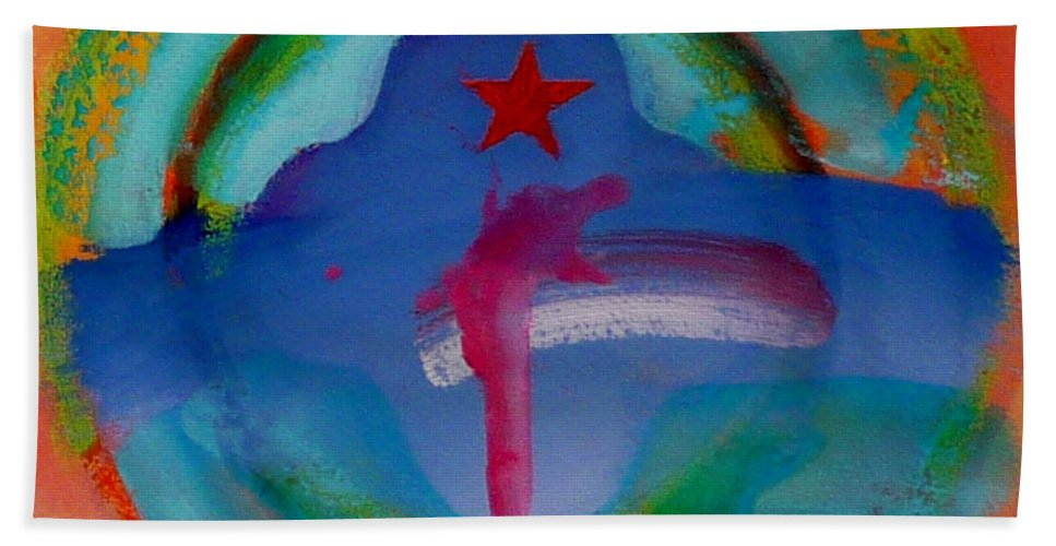 Logo Bath Towel featuring the painting one by Charles Stuart