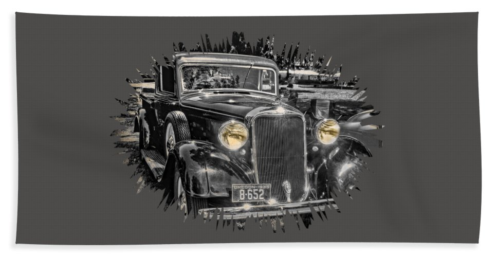 Hdr Hand Towel featuring the photograph One Cool 1935 Dodge Pickup by Thom Zehrfeld