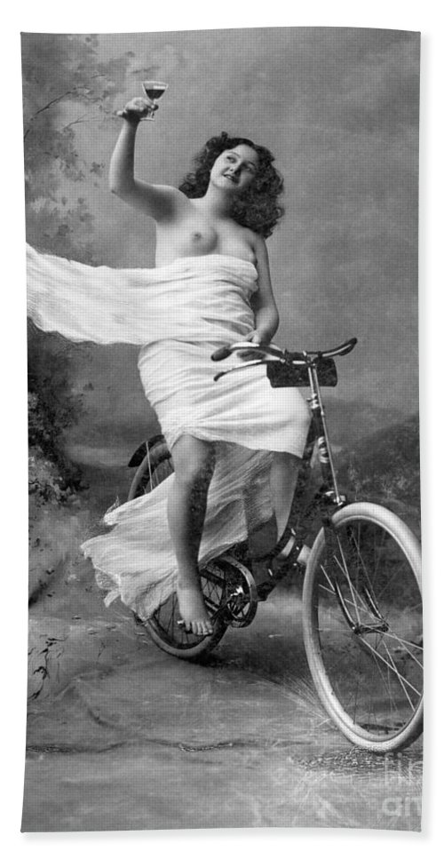 1900 Hand Towel featuring the photograph One For The Road, C1900 by Granger