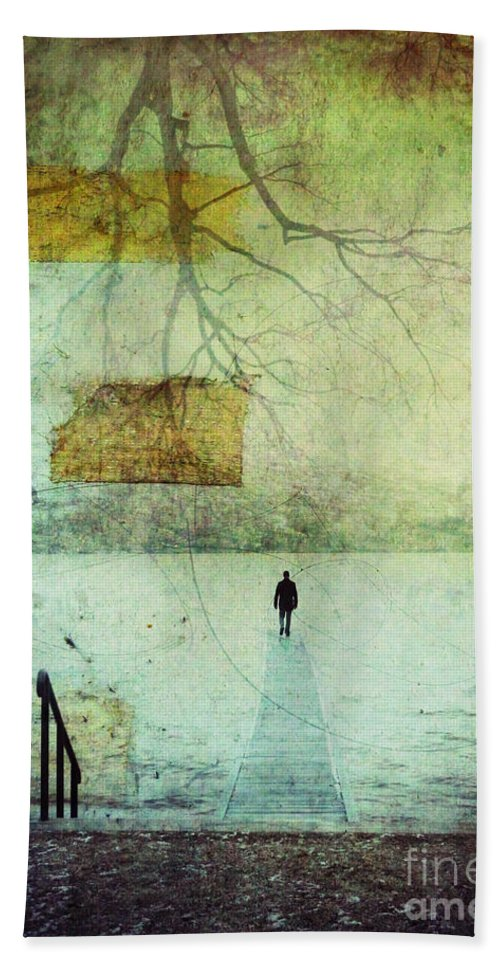 Man Hand Towel featuring the photograph One Man In The Winter Of His Life by Tara Turner