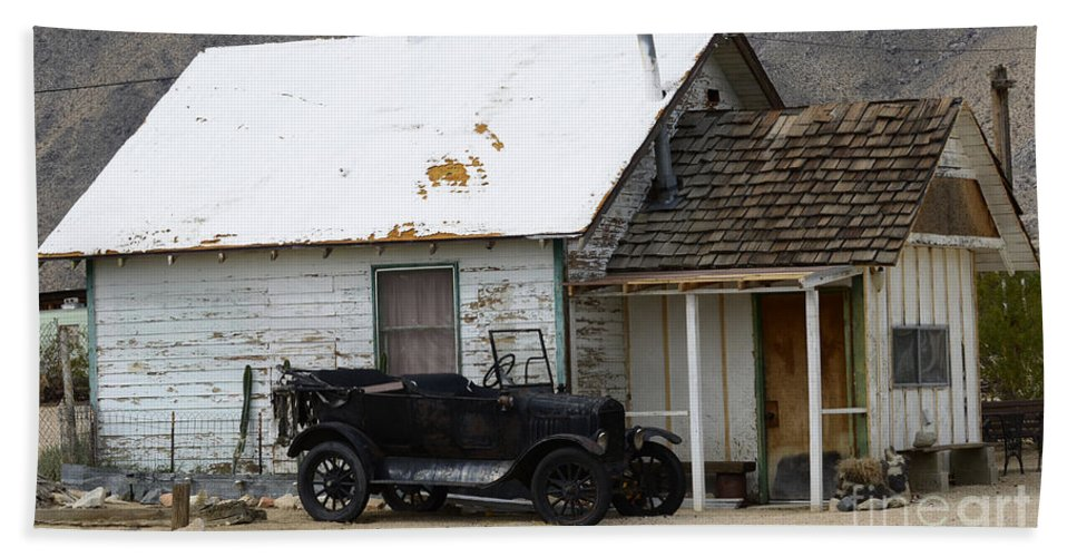 Car Hand Towel featuring the photograph One Man's Treasure by Bob Christopher