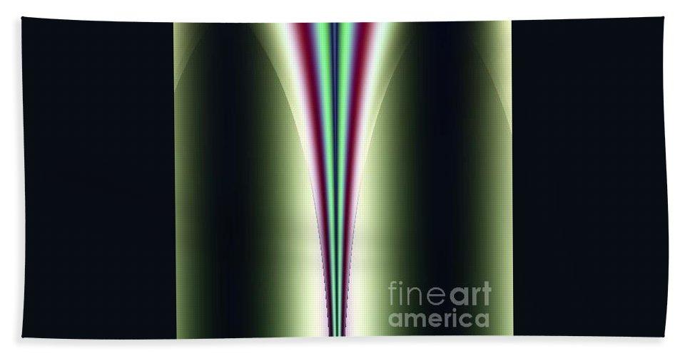 Digital Art Bath Sheet featuring the digital art One Way I by Dragica Micki Fortuna