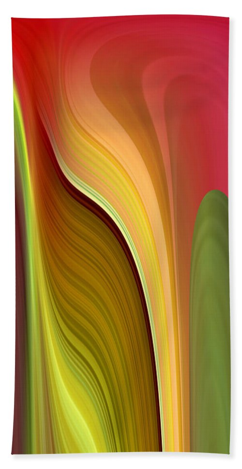 Abstract Hand Towel featuring the digital art Oomph by Ruth Palmer