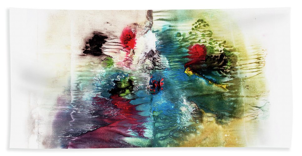 Aquarelle Hand Towel featuring the painting Open Book by Jana Lulovska