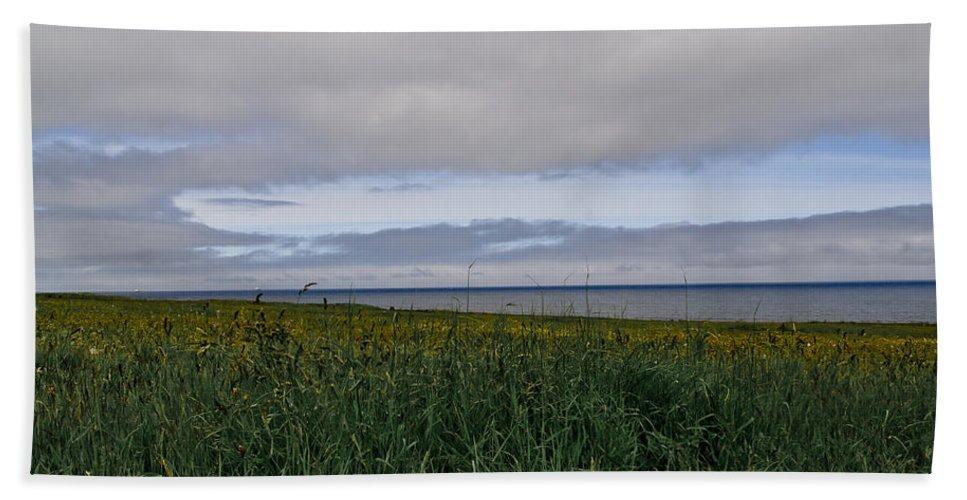 Seaside Hand Towel featuring the photograph Open Vista. Lizard Point. by Elena Perelman