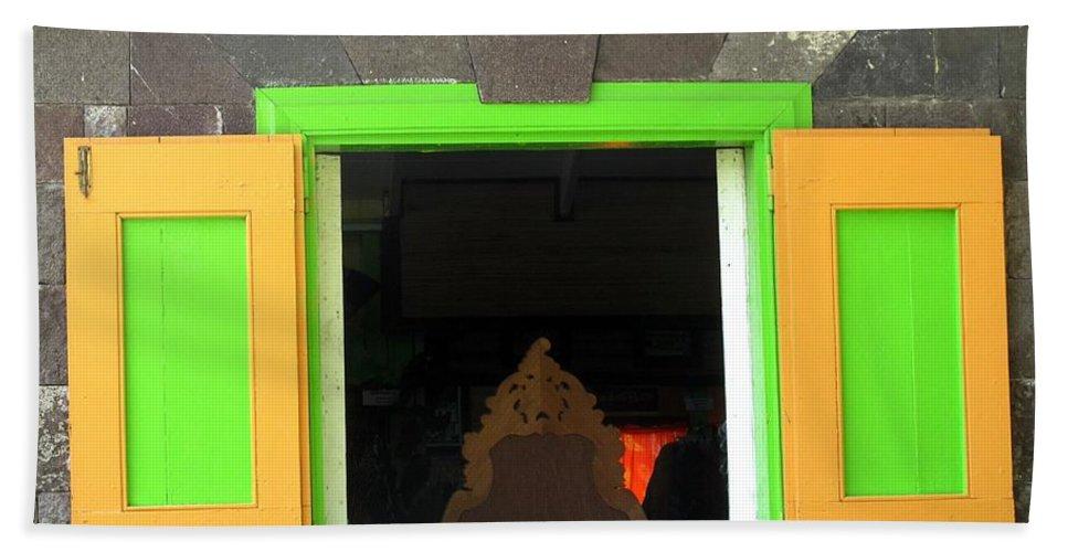 Window Bath Sheet featuring the photograph Open Window by Ian MacDonald