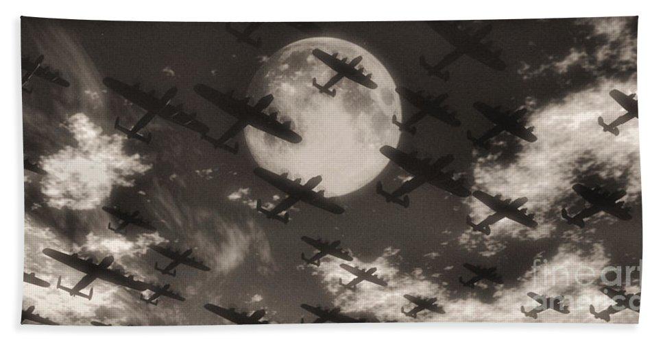 Aviaton Bath Towel featuring the digital art Operation Moonlight by Richard Rizzo