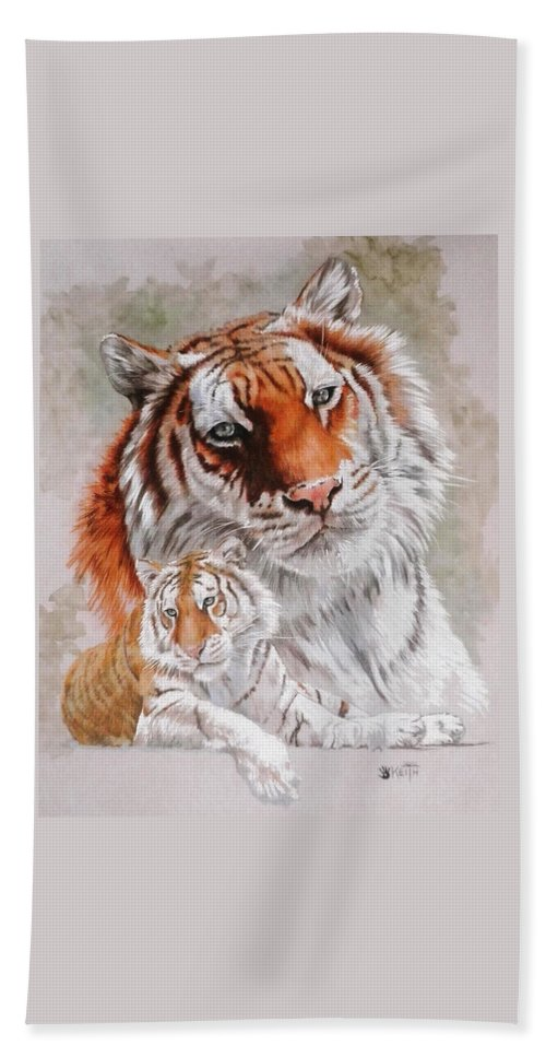 Wildcat Bath Towel featuring the mixed media Opulent by Barbara Keith