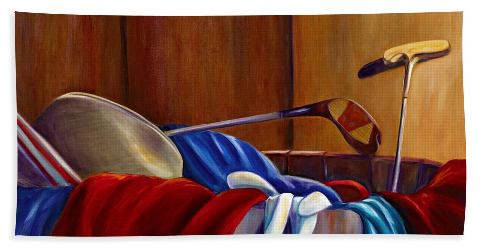 Still Life Bath Sheet featuring the painting Opur's Blade by Shannon Grissom