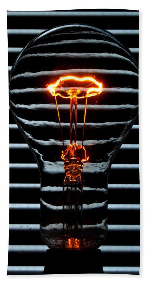 Orange Hand Towel featuring the photograph Orange Bulb by Rob Hawkins