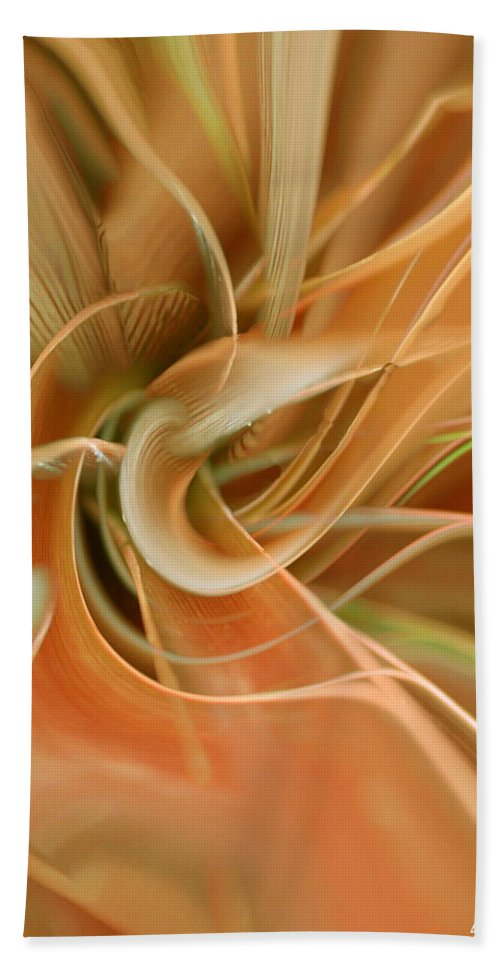 Abstarct Art Hand Towel featuring the digital art Orange Delight by Linda Sannuti