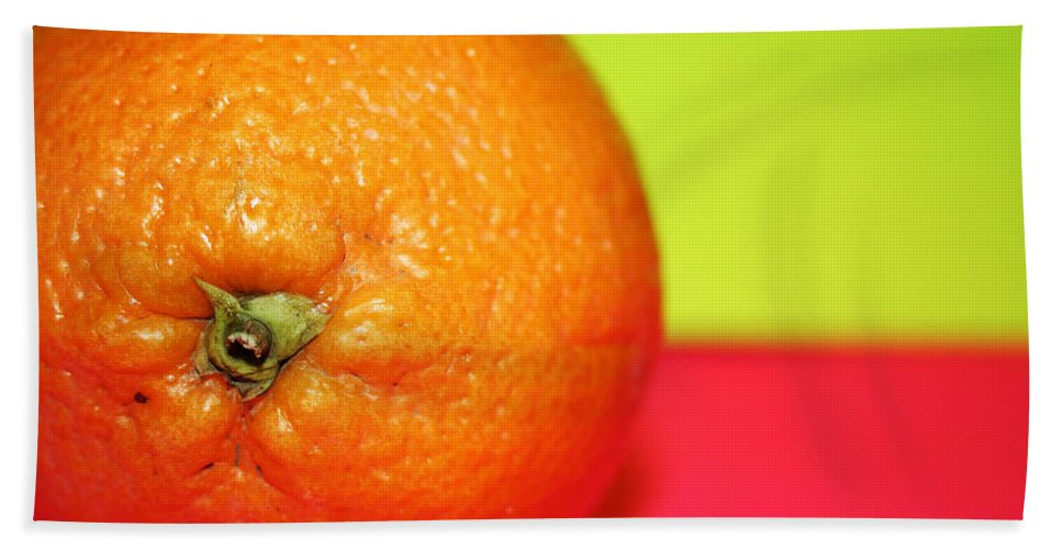 Oranges Bath Towel featuring the photograph Orange by Linda Sannuti