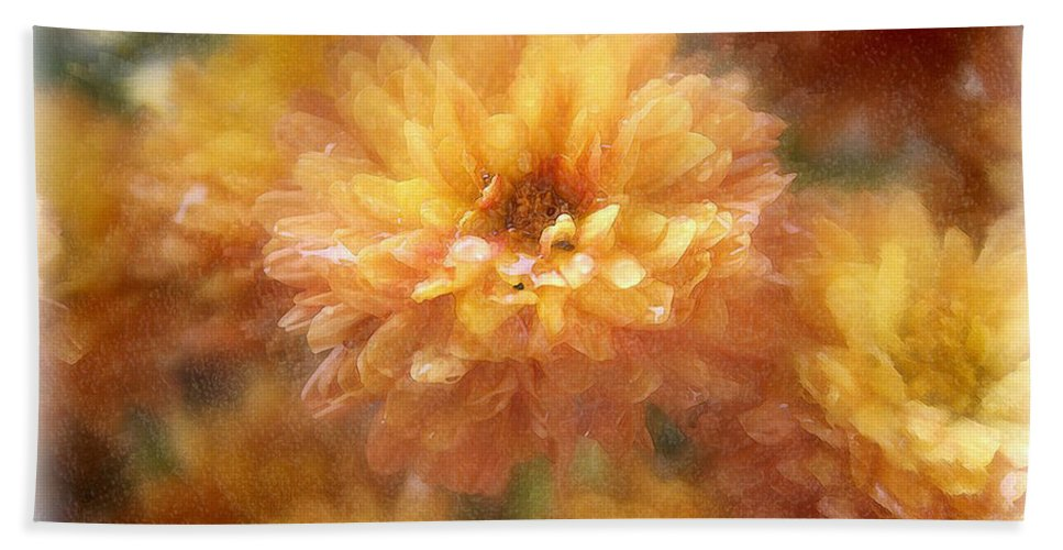 Flowers Hand Towel featuring the photograph Orange Passion by Linda Sannuti