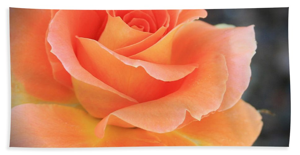 Orange Bath Sheet featuring the photograph Orange Sherbert by Marna Edwards Flavell