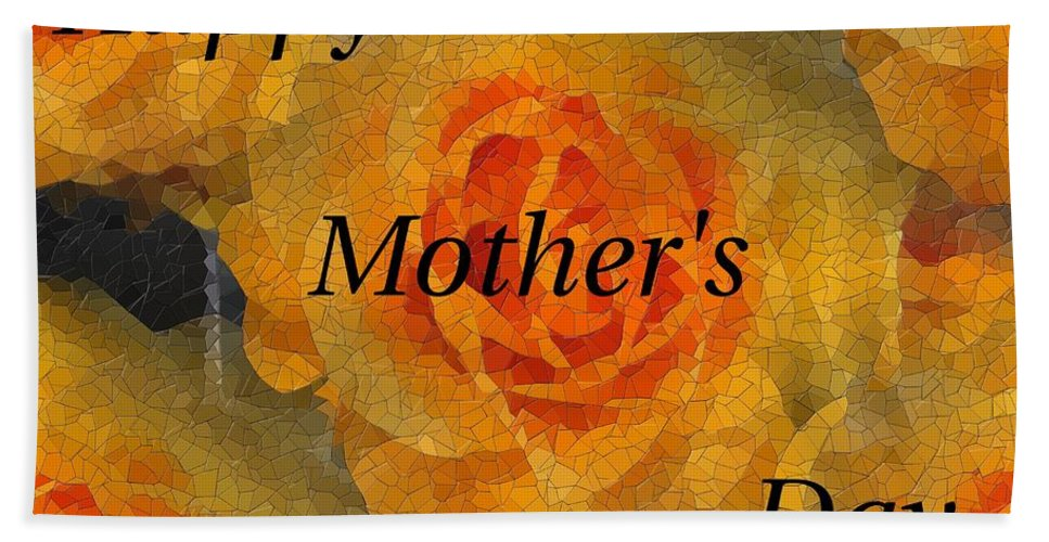 Mother's Day Bath Sheet featuring the digital art Orange You Lovely Mothers Day by Tim Allen