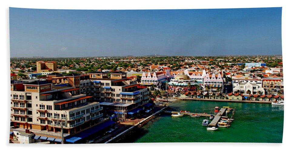 Aruba Hand Towel featuring the photograph Oranjestad Aruba by Gary Wonning