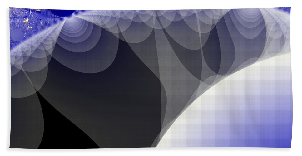 Fractal Image Hand Towel featuring the digital art Orbs And Atmospheres by Ron Bissett