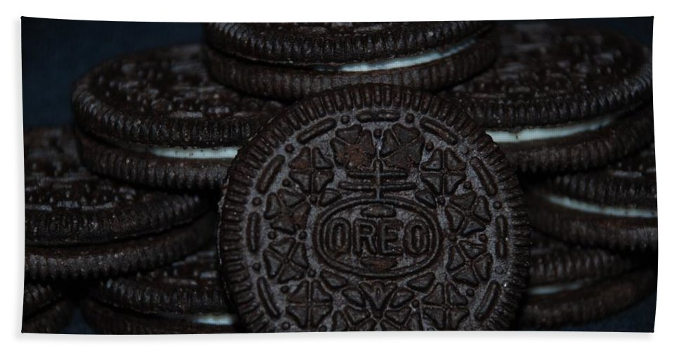 Oreo Bath Towel featuring the photograph Oreo Cookies by Rob Hans
