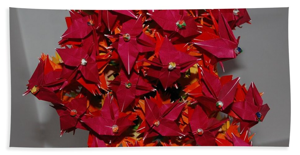 Origami Bath Towel featuring the photograph Origami Flowers by Rob Hans