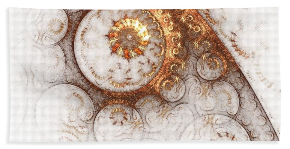 Abstract Hand Towel featuring the painting Ornament by Steve K