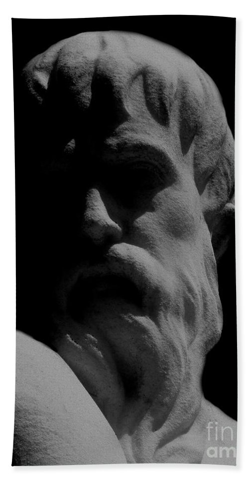 Black And White Hand Towel featuring the photograph Orpheus Looks Back by RC DeWinter