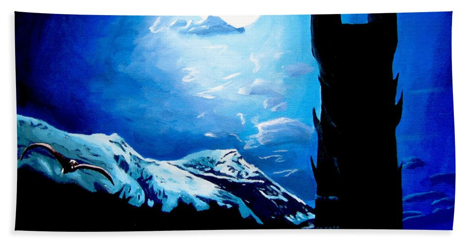 Lord Bath Sheet featuring the painting Orthanc Rescue by Kayleigh Semeniuk
