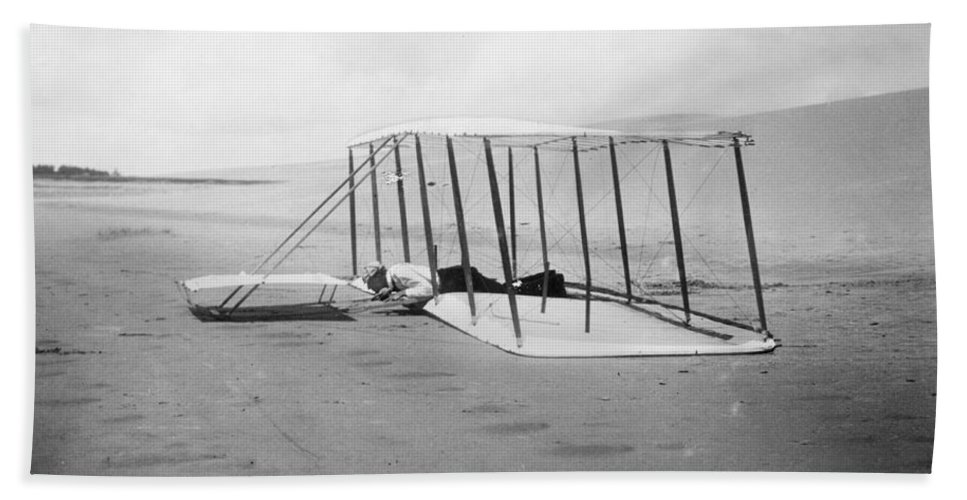 1901 Bath Sheet featuring the photograph Orville Wright, 1901 by Granger