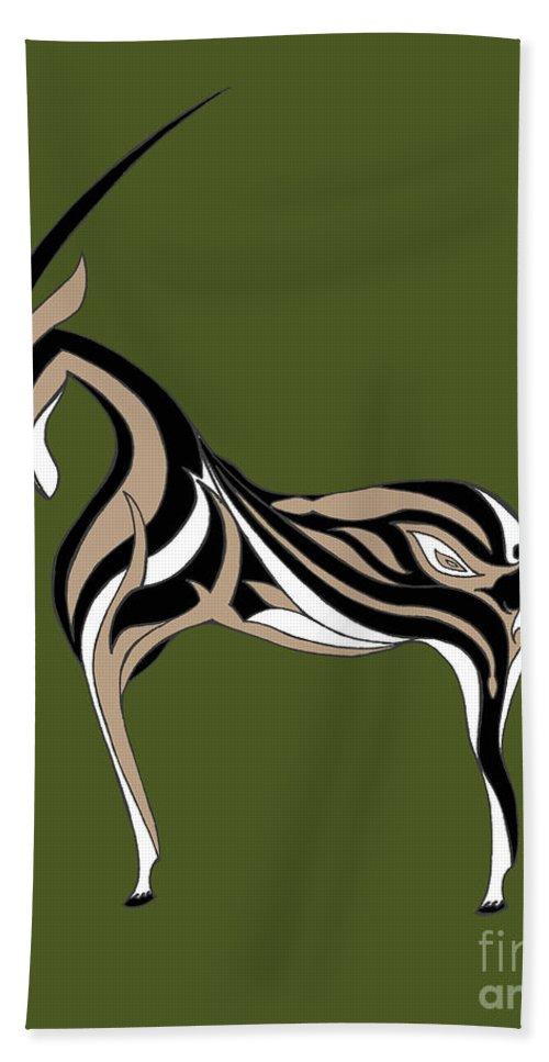 Oryx Bath Sheet featuring the digital art Oryx by Alycia Christine