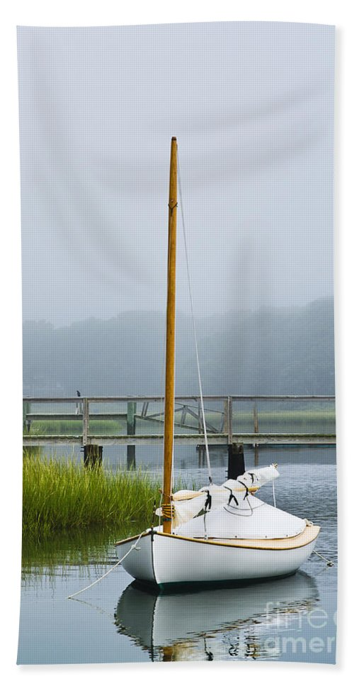 cape Cod Bath Sheet featuring the photograph Osterville Sailboat by John Greim