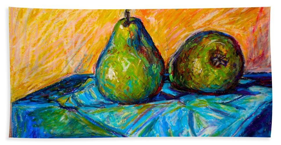 Still Life Bath Sheet featuring the painting Other Pears by Kendall Kessler