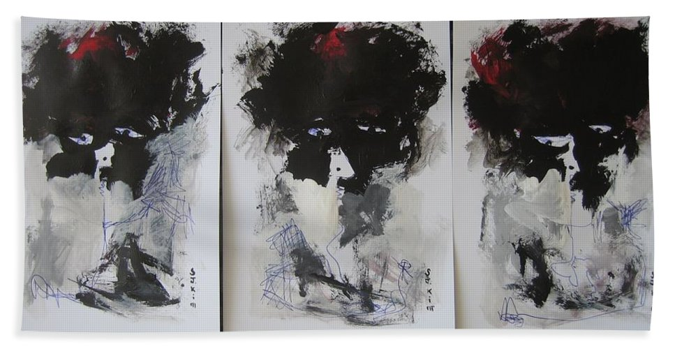 Original Bath Towel featuring the painting Other Than 3 by Seon-Jeong Kim